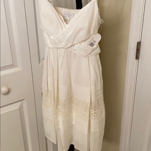 NWT Jessica Simpson ivory cotton/lace sundress